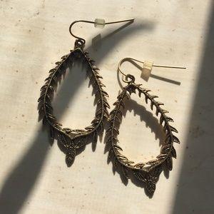 Gold leaf garland earrings